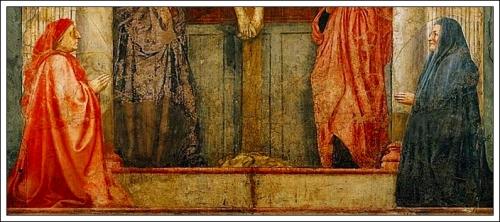 Detail, Masaccio TrinityBerti (?) Family