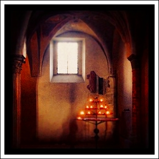 Candlelight in the Crypt of San Miniato