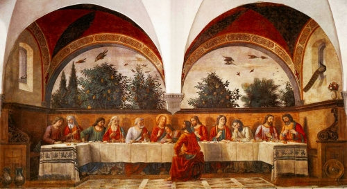 Domenico GhirlandaioLast Supper, ca. 1480Ognissanti