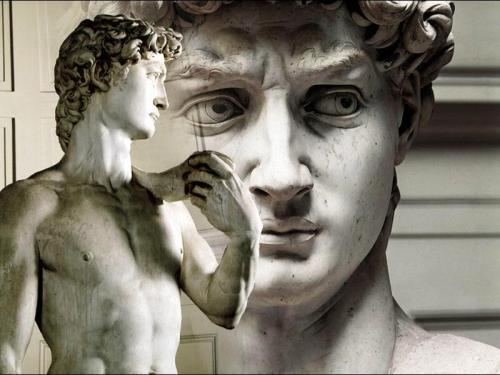 Michelangelo, DavidFace Detail