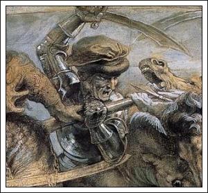 battle of AnghiariCartoon copy by RubensOrig by Leonardo da Vinci1505Palazzo Vecchio, Florence