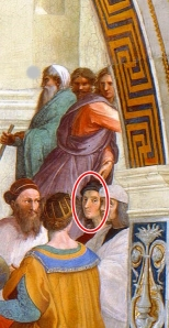 Portrait of the Artist (Circled in Red) Raphael, 1509 School of Athens