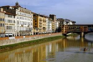 Hotel Facade and Ponte Vecchio Hotel Berchielli Florence