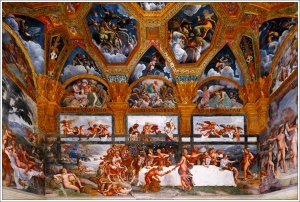 Sala dei Psychie Palazzo Te, Mantua