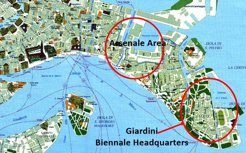 Map Of Biennale Venice 2017 Travel Across Italy: Venice Biennale 2017 Map At Infoasik.co